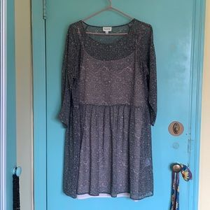 Frank and Oak dress with slip, size L